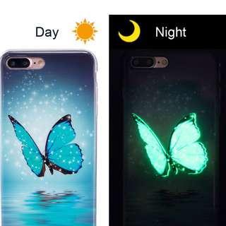 Iphone 7Plus Luminous Night Light Soft Silicone Cover Case