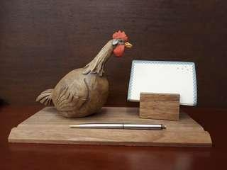 Pen, card or note pad holder