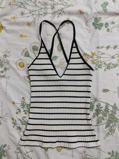 MANGO MNG Crossback Stripes Camisole