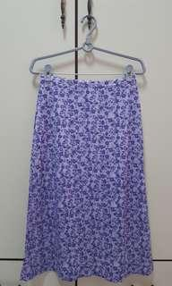 Purple floral skirt