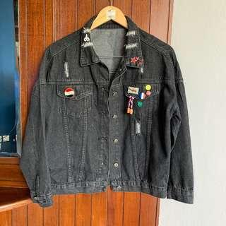 Black Denim Jacket non brand