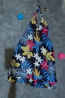 Floral Dress backless - baju pantai (preloved)