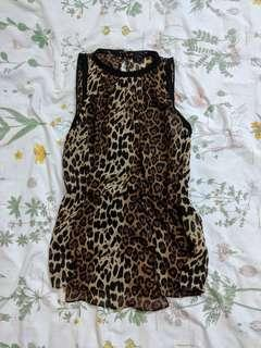 ZARA Leopard Sleeveless