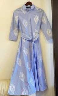 Authentic Zara Embroidered Midi Dress