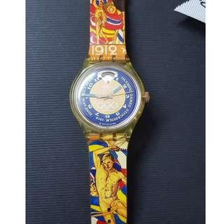 [Original/Genuine] Swatch Collector's Edition SAZ103 Stockholm Sweden 1912 Olympic Games Automatic Watch