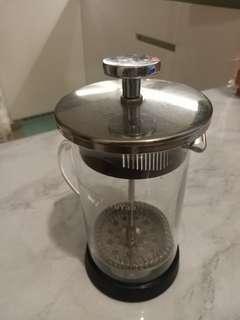 法壓壼 沖茶 耐熱玻璃花茶壼 濾壓式咖啡壼