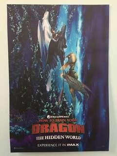 """Original """"How to Train Your Dragon: The Hidden World"""" IMAX movie poster"""