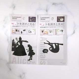 日本 正版 disney 玻璃貼 牆貼 燈掣貼 防水貼紙