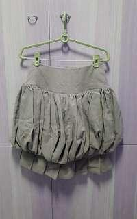 Olive balloon skirt