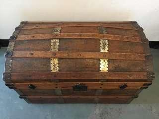 Antique Victorian Dome Top Wedding Chest (1837-1910) Imported from UK