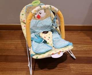 Baby bouncer rocking chair music seat