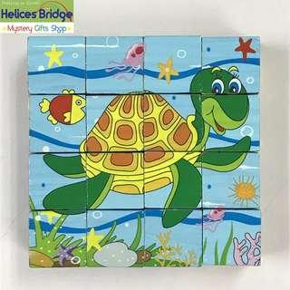 16 Building Block - Kid play of fun 6 faces - Ocean fun Creativity, Montessori Great fun kids play