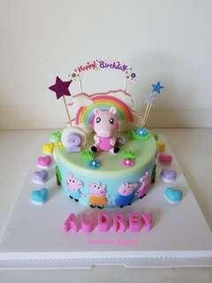 Peppa pig jelly cake