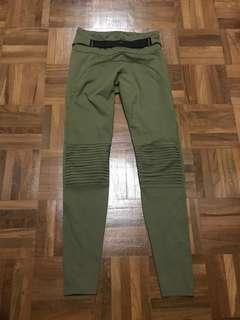 Daquïni Moto leggings (size xs) in Khaki