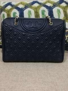 Tory Burch Duffel Quilted Leather Shoulder Bag