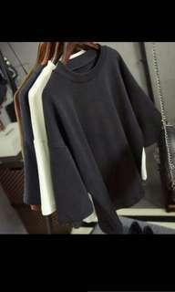 🚚 Grey Oversized Top