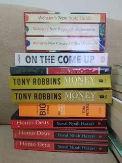 Self-help , Leadership , Financial , Fiction, and Non Fiction Books