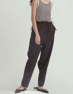 設計師中高腰花苞褲(腰可用綁帶調整)