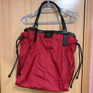 Burberry red bag 紅色袋