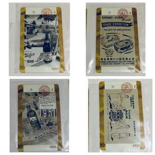 BN Limited Edition vintage MRT Farecards