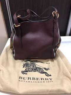 8f4370d2518f Burberry House Check Small Canterbury Leather Mahogany
