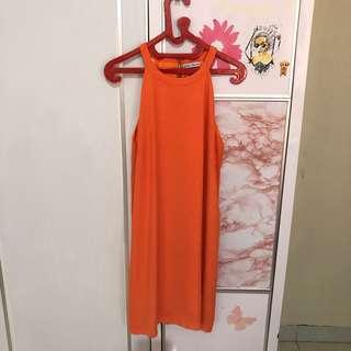 PEACH ORANGE DRESS