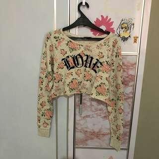 Floral Love crop sweater