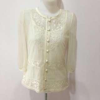 Next Flower Lace Cardigan Top (Atasan Wanita) (Like New)