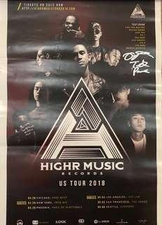 HIGHR Music Records US Tour Poster
