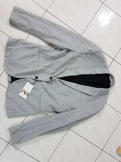 Zara Men Light Grey Top Casual Jacket