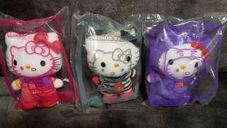 McDonald's Hello Kitty Soft Toy- Birdie, Hamburglar, Grimace
