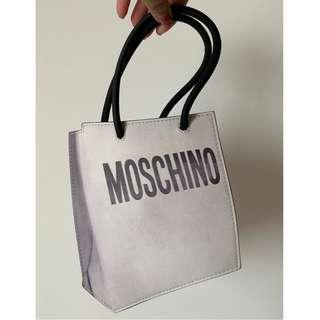 Moschino small leather tote