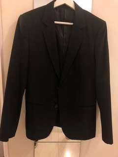 100%羊毛黑色西裝外套 black blazer