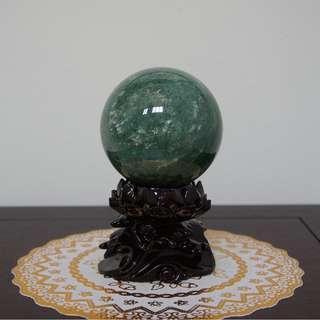 Green Strawberry quartz ball 绿草莓球