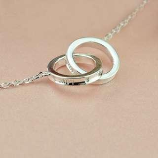 Infinity Love Knot 925 Silver Necklace