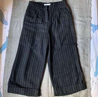 Vintage Striped Wide Leg Pants
