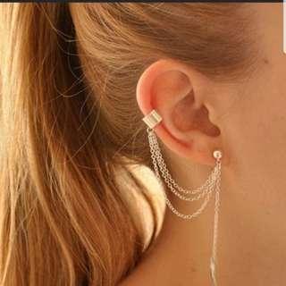 🚚 [INSTOCKS] Dangling Leaf Chain Earclip Earcuff Earrings