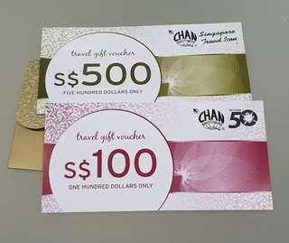 🚚 Chan Brothers Travel Voucher $600