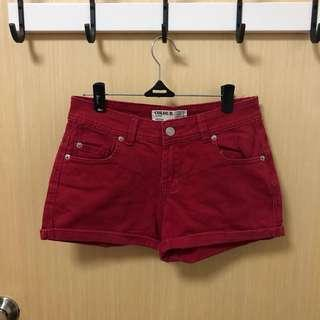 🚚 Cotton On Red Denim Shorts