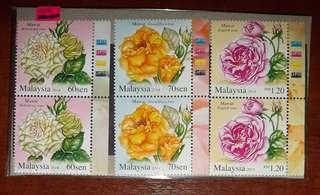 Stamps Bunga Mawar (Roses)