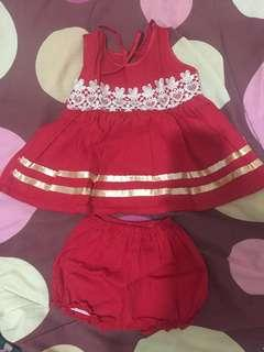 Dress bayi plus celana