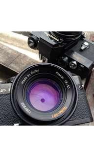 jual lensa planar 50/1,8 rollei hft bonus body
