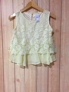 Yellow Lace Top with tag