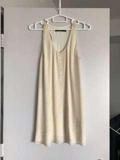 Beaded Cream Dress
