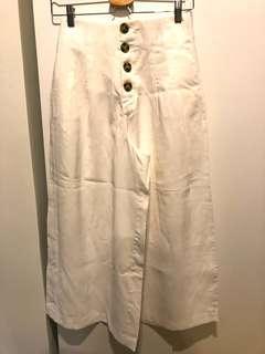 ZARA PANT CULOTTE WHITE SMALL S