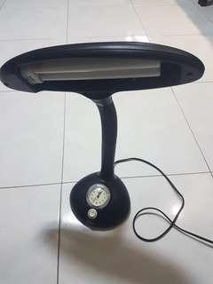 Table Lamp with clock and bulb included
