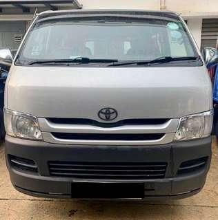 Toyota hiace 3.0DX M ( new 5 years coe )