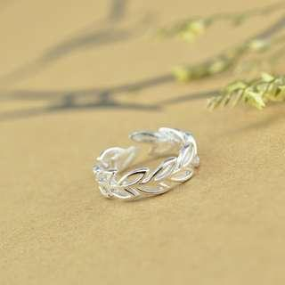 Leaves Infinity 925 Silver Size-Adjustable Ring