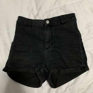 🚚 Black Denim High Waisted Shorts