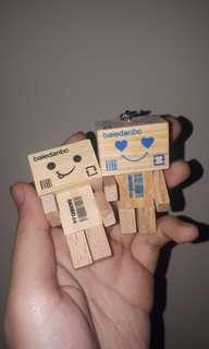 Wooden couple key chain | gantungan kunci couple